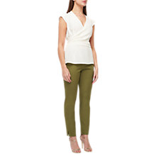 Buy Jacques Vert Perfect Slim Leg Trousers, Dark Green Online at johnlewis.com