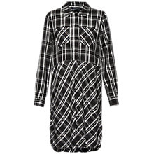 Buy French Connection Darla Check Shirt Dress, Black/White Online at johnlewis.com