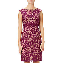 Buy Adrianna Papell Lace Cap Sleeve Sheath Dress, Crushed Berry Online at johnlewis.com