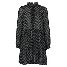 Buy French Connection Medina Tile Sheer Tie Dress, Mineral Green Multi Online at johnlewis.com