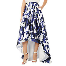 Buy Adrianna Papell Abstract Floral Print Faille Side Pleat Skirt, Midnight/Ivory Online at johnlewis.com