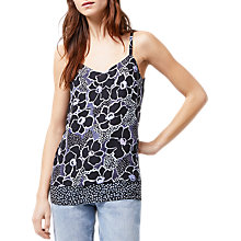 Buy Warehouse Woodblock Floral Camisole, Purple Pattern Online at johnlewis.com