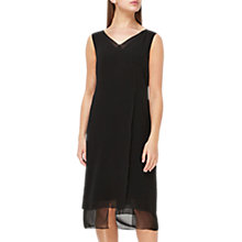 Buy Jacques Vert Sheer Layer Shift Silk Dress, Black Online at johnlewis.com