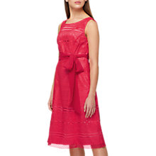 Buy Jacques Vert Lace Fit And Flare Dress, Mid Pink Online at johnlewis.com