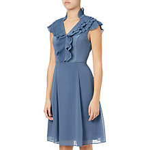 Buy Adrianna Papell Chiffon Ruffle Dress, Steel Blue Online at johnlewis.com