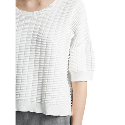 Buy French Connection Ladder Mozart Jumper, Summer White Online at johnlewis.com