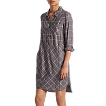Buy French Connection Darla Check Shirt Dress, Daisy White Online at johnlewis.com
