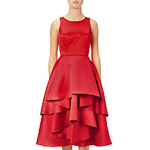 Buy Adrianna Papell Sleeveless Fit And Flare Cocktail Dress, Persimmon Red Online at johnlewis.com