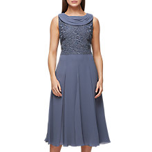 Buy Jacques Vert Sequin Bodice Midi Dress, Dark Grey Online at johnlewis.com