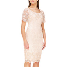 Buy Jacques Vert Sequin Embroidered Anglaise Dress, Mid Neutral Online at johnlewis.com