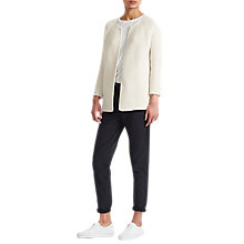 Buy French Connection Cotton Link Stitch Cardigan, Cream Online at johnlewis.com