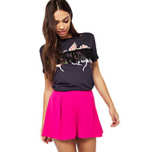 Buy Miss Selfridge Pleated Shorts, Pink Online at johnlewis.com