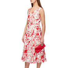 Buy Jacques Vert Sunset Dahlia Print Midi Dress, Red/Cream Online at johnlewis.com