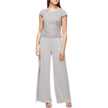 Buy Jacques Vert Side Split Chiffon Trosuers, Mid Grey Online at johnlewis.com
