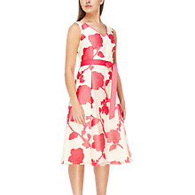 Buy Jacques Vert Burnout Floral Dress, Multi/Orange Online at johnlewis.com