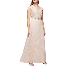 Buy Jacques Vert Pleated Embroidered Bodice Maxi Dress, Light Pink Online at johnlewis.com