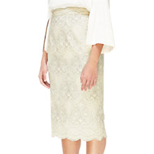 Buy Jacques Vert Ivy Embroidered Pencil Skirt, Ivory Online at johnlewis.com