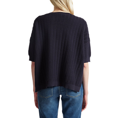 Buy French Connection Ladder Mozart Round Neck Jumper, Utility Blue Online at johnlewis.com