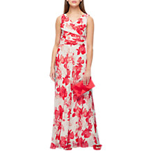 Buy Jacques Vert Hibiscus Print Maxi Dress, Pink Online at johnlewis.com