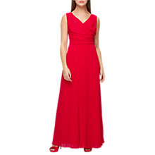 Buy Jacques Vert Plisse Bottom Maxi Dress, Mid Pink Online at johnlewis.com