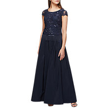 Buy Jacques Vert Taffeta Maxi Skirt, Navy Online at johnlewis.com