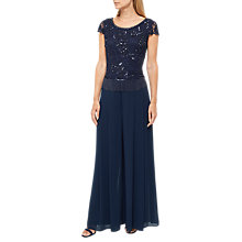 Buy Jacques Vert Chiffon Pleated Trousers, Navy Online at johnlewis.com