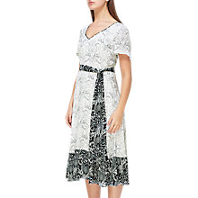 Buy Jacques Vert Hanky Hem Tile Dress, White/Black Online at johnlewis.com