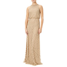 Buy Adrianna Papell Sleeveless Beaded Gown, Nude Online at johnlewis.com