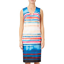 Buy Adrianna Papell Scuba V-Neck Shift Dress, Multi Online at johnlewis.com