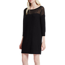 Buy French Connection Vhari Hybrid Knit Dress, Black Online at johnlewis.com