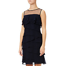 Buy Adrianna Papell Tiered Sheath Dress, Blue Moon Online at johnlewis.com
