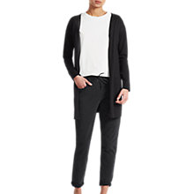 Buy French Connection Spring Light Longline Cardigan, Black Online at johnlewis.com