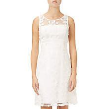 Buy Adrianna Papell Sleeveless Lace Shift Dress, White Online at johnlewis.com