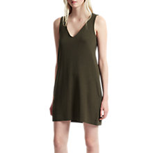 Buy French Connection Sudan Marl V Neck Shift Dress, Olive Night Online at johnlewis.com