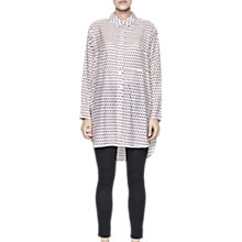 Buy French Connection Bacongo Dot Oversized Shirt, Daisy White Multi Online at johnlewis.com