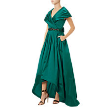 Buy Adrianna Papell Silky Taffeta Shawl Gown, Emerald Green Online at johnlewis.com
