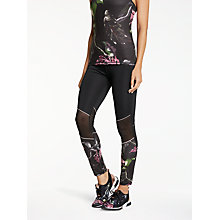 Buy Ted Baker Fit to a T Stellio Eden Mesh Panel Activewear Leggings, Black Online at johnlewis.com