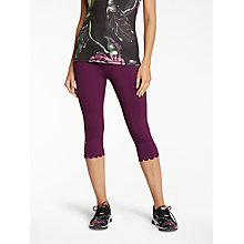 Buy Ted Baker Fit to a T Mitzzi Panelled Scallop Hem Activewear Leggings, Maroon Online at johnlewis.com