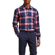 Buy Thomas Pink Cavill Slim Fit Shirt, Navy/Pink Online at johnlewis.com