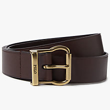 Buy Polo Ralph Lauren Novelty Leather Belt, Brown Online at johnlewis.com
