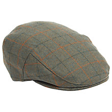 Buy Barbour Crieff Plaid Flat Cap, Olive Online at johnlewis.com