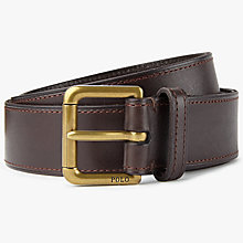 Buy Polo Ralph Lauren Casual Leather Belt, Brown Online at johnlewis.com