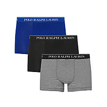 Buy Polo Ralph Lauren Stripe Cotton Trunks, Pack of 3, Multi Online at johnlewis.com