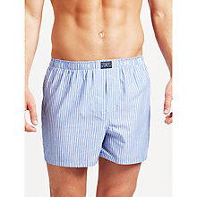 Buy Polo Ralph Lauren Gingham Stripe Woven Cotton Boxers, Pack of 3, Blue Online at johnlewis.com