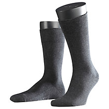 Buy Falke Airport Short Socks, Charcoal Melange Online at johnlewis.com