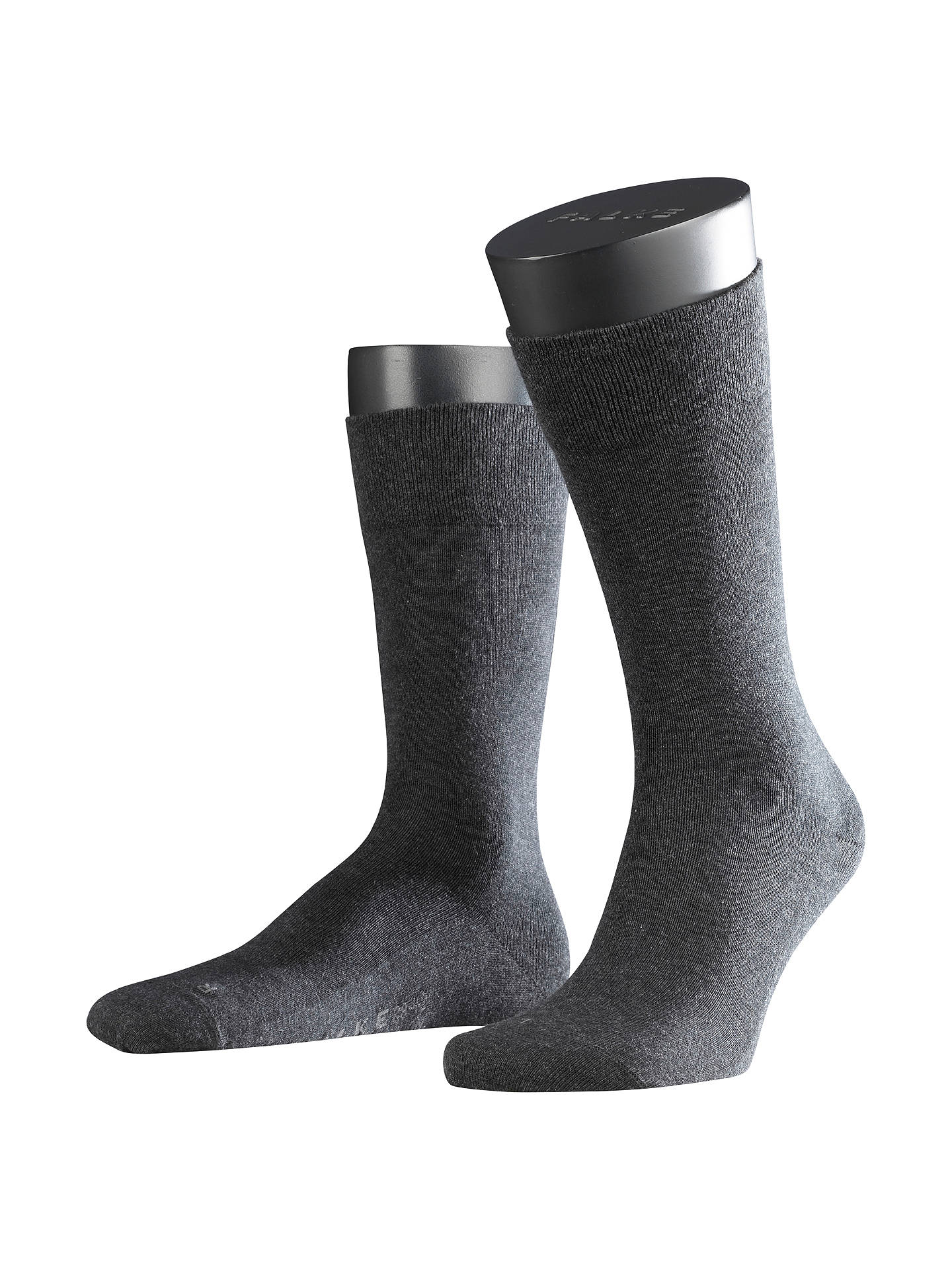 BuyFALKE Airport Short Socks, Charcoal Melange, S Online at johnlewis.com