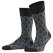 Buy Falke Blackjack Patterned Short Sock, Black/Grey/Blue Online at johnlewis.com