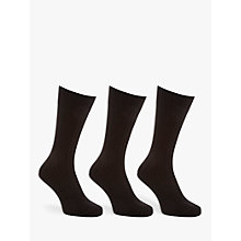 Buy John Lewis Short Rib Socks, Pack of 3 Online at johnlewis.com
