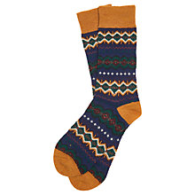 Buy Barbour Caistown Fair Isle Socks, Navy Online at johnlewis.com