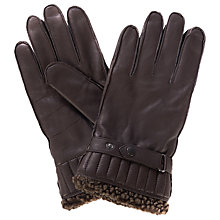 Buy Barbour Tindale Leather Gloves, Brown Online at johnlewis.com